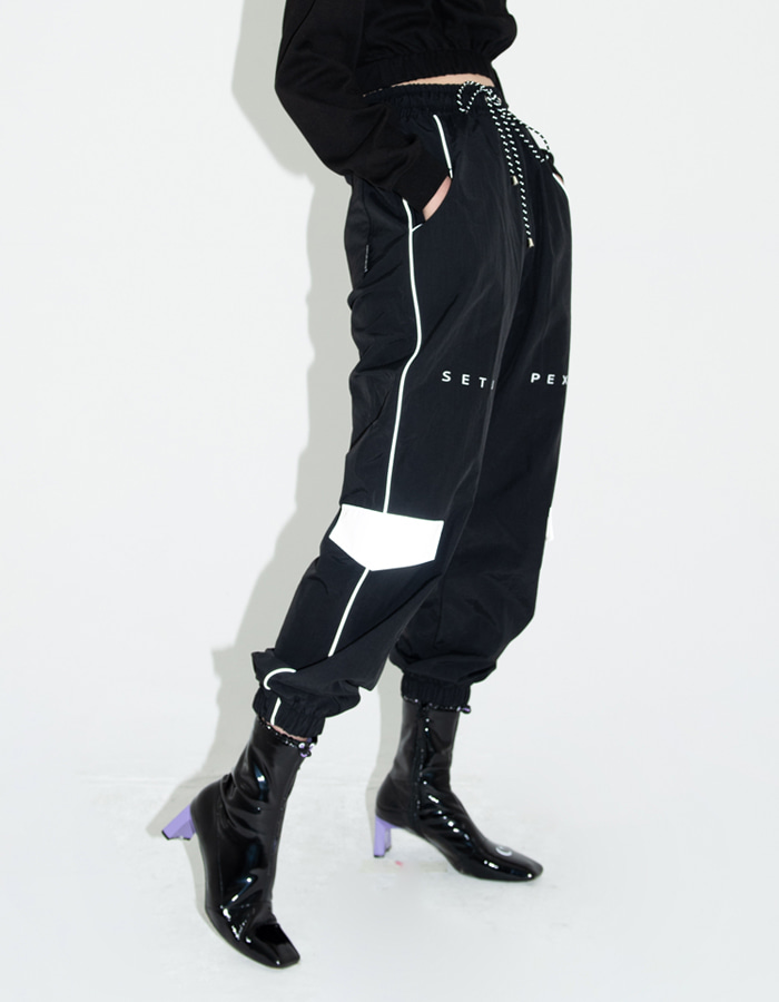 Reflective track Pants - Black