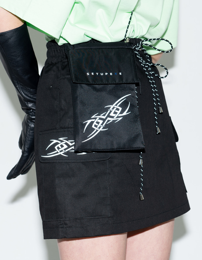 Reflective mini Bag - Black