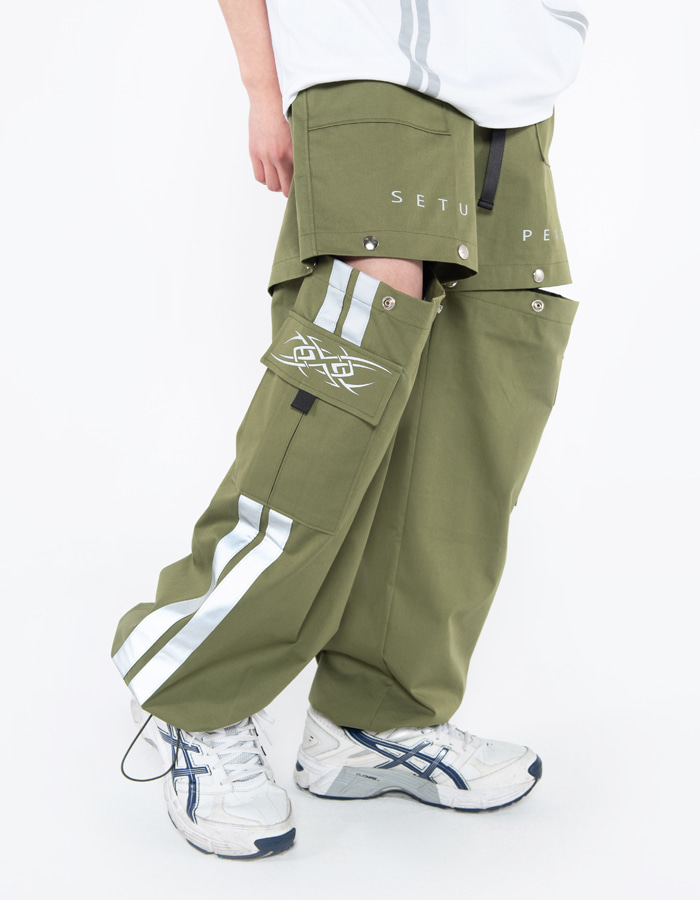 Snap cut-off Pt - khaki