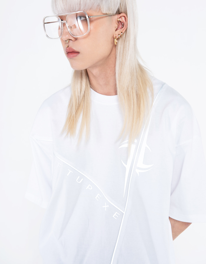 Reflective line T-shirt - white