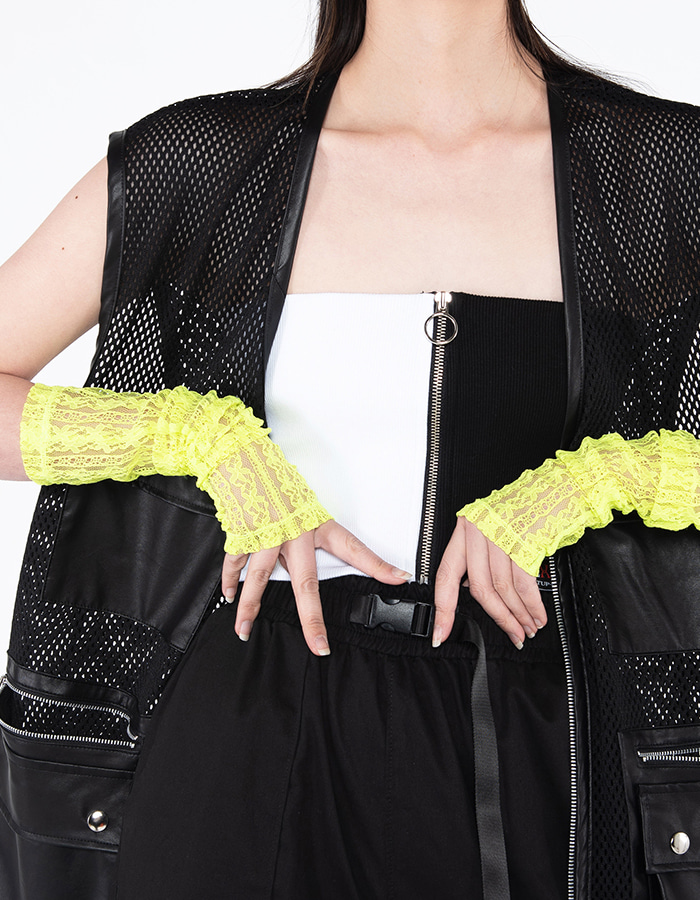 See-through Warmer - neon green
