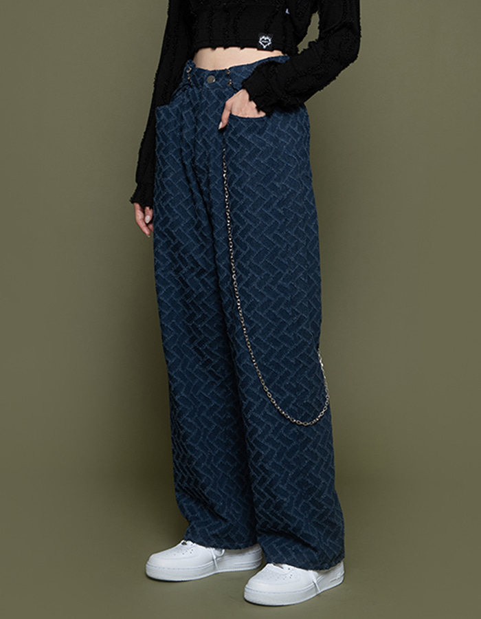 Waist hook denim PT - deep blue