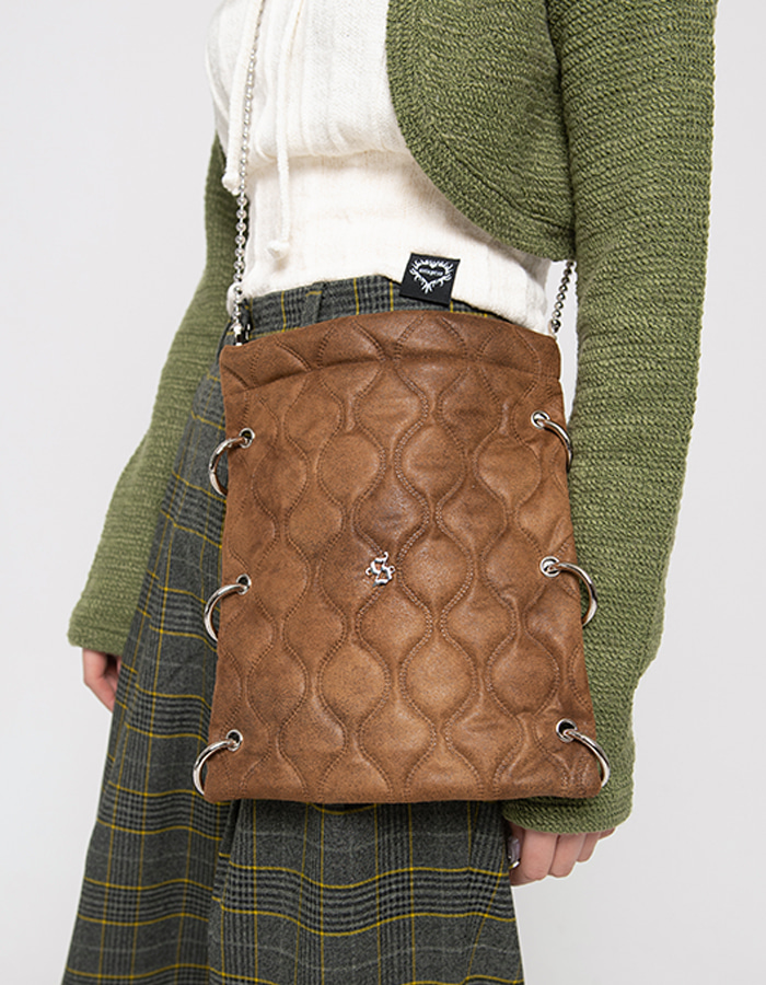 O-ring point cross Bag - brown