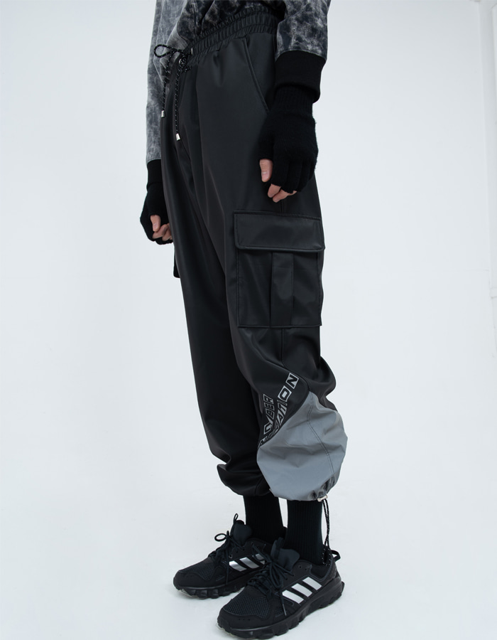 Reflective pointed Pants - Black