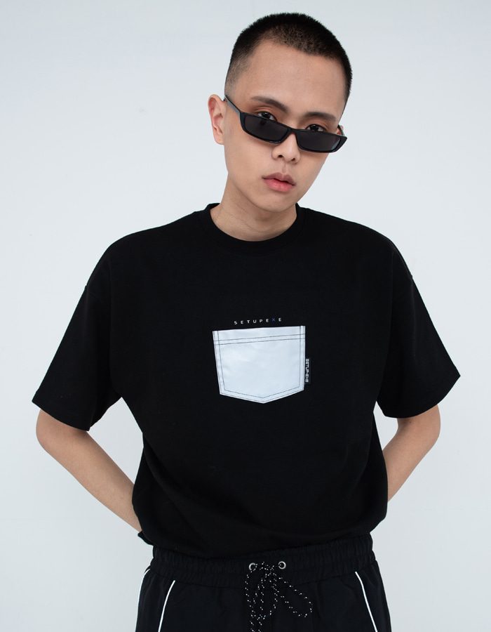 Reflective pocket T-shirt - Black