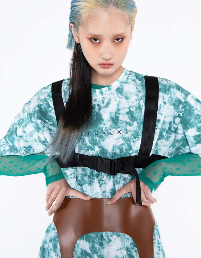 Tie-dye belt T-shirt - green